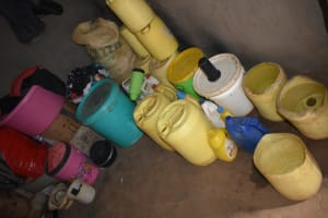 The Water Project: Bukalama Community, Wanzetse Spring -  Water Storage Containers