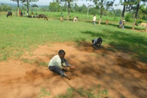 The Water Project: Mabanga Community, Ashuma Spring -  Some Fun And Games While On The Job
