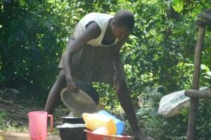 The Water Project: Mabanga Community, Ashuma Spring -  Washing Utensils