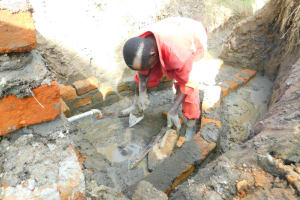 The Water Project: Ikonyero Community, Jesse Spring -  Drawing Point Construction