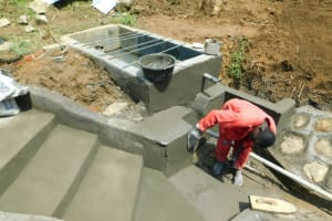 The Water Project: Ikonyero Community, Jesse Spring -  Stair Construction