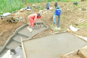 The Water Project: Ikonyero Community, Jesse Spring -  Covered Reservoir