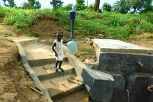 The Water Project: Ikonyero Community, Jesse Spring -  Ready To Fetch Water From The New Tank