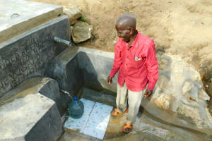 The Water Project: Ikonyero Community, Jesse Spring -  Happy Day For Improved Water Access