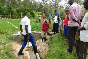 The Water Project: Eshiakhulo Community, Asman Sumba Spring -  Groundbreaking For Reservoir Tank