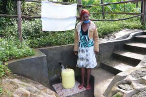 The Water Project: Bukhaywa Community, Ashikhanga Spring -  Isabella At The Spring