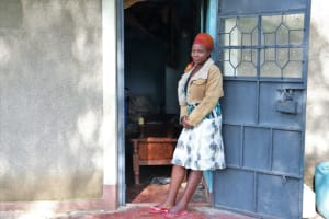 The Water Project: Bukhaywa Community, Ashikhanga Spring -  Isabella In Front Of Her House