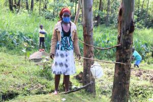 The Water Project: Bukhaywa Community, Ashikhanga Spring -  Next To The Handwashing Station At The Spring