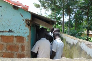 The Water Project: Mwembe Primary School -  Boys At Their Latrines