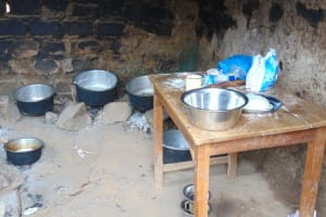 The Water Project: Mwembe Primary School -  Inside The School Kitchen