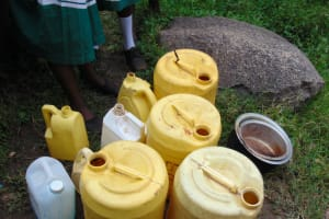 The Water Project: Mwembe Primary School -  Water Storage Containers