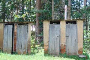 The Water Project: Jivuye Primary School -  Boys Latrines