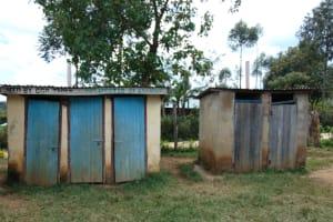 The Water Project: Jivuye Primary School -  Girls Latrines