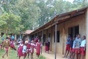 The Water Project: Jivuye Primary School -  Pupils Outside Class