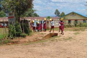 The Water Project: Jivuye Primary School -  Pupils Back In School With Water