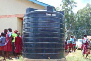 The Water Project: Jivuye Primary School -  Tank In School