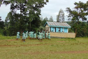 The Water Project: Friends Musiri Primary School -  Girls At The Latrines