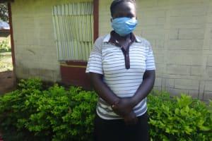 The Water Project: Mahira Community, Mukalama Spring -  Carolyne Masava Masked Up
