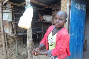 The Water Project: Mahira Community, Mukalama Spring -  Handwashing Outside A Latrine