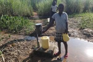 The Water Project: Mahira Community, Mukalama Spring -  Using Chlorine