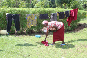 The Water Project: Lukala C Community, Livaha Spring -  Clothes Drying