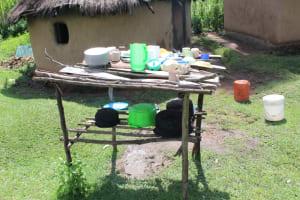 The Water Project: Lukala C Community, Livaha Spring -  Dishrack
