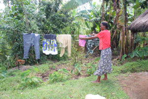 The Water Project: Lukala C Community, Livaha Spring -  Drying Clothes