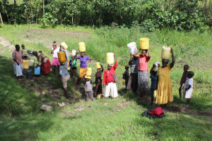 The Water Project: Lukala C Community, Livaha Spring -  It Takes A Whole Community