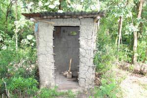 The Water Project: Lukala C Community, Livaha Spring -  Latrine Sample