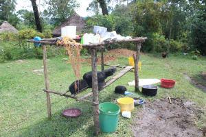 The Water Project: Lukala C Community, Livaha Spring -  Sample Dishrack