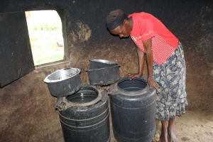 The Water Project: Lukala C Community, Livaha Spring -  Storage Containers