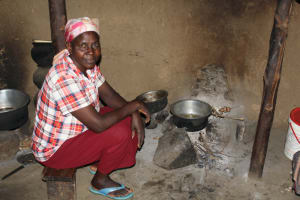 The Water Project: Lukala C Community, Livaha Spring -  Inside Her Kitchen