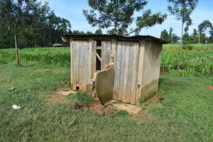 The Water Project: St. Peter's Ebunga'le Primary School -  Girls Latrine