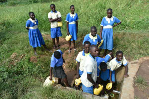The Water Project: St. Peter's Ebunga'le Primary School -  Students Collecting Water