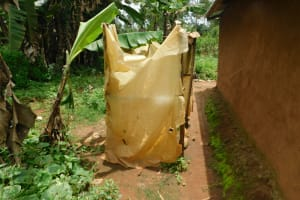 The Water Project: Mwitwa Community, Matiang'i Spring -  Bathing Shelter