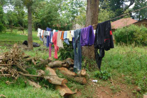 The Water Project: Mwitwa Community, Matiang'i Spring -  Clothesline
