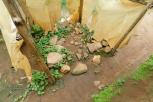 The Water Project: Mwitwa Community, Matiang'i Spring -  Inside The Bathing Shelter
