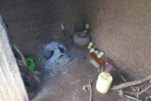 The Water Project: Mwitwa Community, Matiang'i Spring -  Kitchen Inside