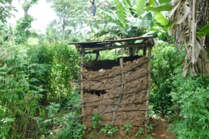 The Water Project: Mwitwa Community, Matiang'i Spring -  Latrine