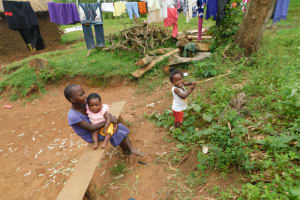 The Water Project: Mwitwa Community, Matiang'i Spring -  Some Early Morning Happiness As Kids Are Home From School