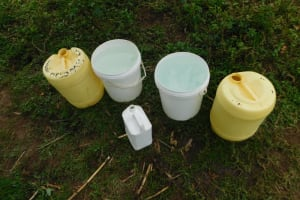 The Water Project: Mwitwa Community, Matiang'i Spring -  Water Storage