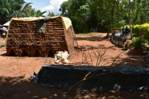 The Water Project: Shianda Township Community, Olingo Spring -  Brickmaking As A Source Of Income