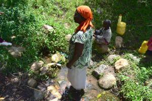The Water Project: Shianda Township Community, Olingo Spring -  Current Situation Of Olingo Spring
