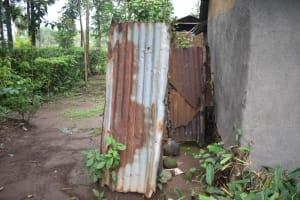 The Water Project: Maraba Community, Shisia Spring -  Bathing Shelter Outside