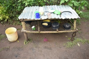 The Water Project: Maraba Community, Shisia Spring -  Dishrack