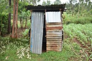The Water Project: Maraba Community, Shisia Spring -  Latrine Outside