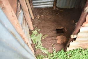 The Water Project: Maraba Community, Shisia Spring -  Mud Floor Of Latrine