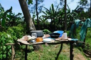 The Water Project: Musango Commnuity, Wabuti Spring -  Dishrack