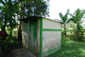The Water Project: Musango Commnuity, Wabuti Spring -  Latine And Bathing Shelter