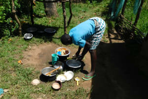 The Water Project: Musango Commnuity, Wabuti Spring -  Some Household Chores With Water From Wabuti Spring